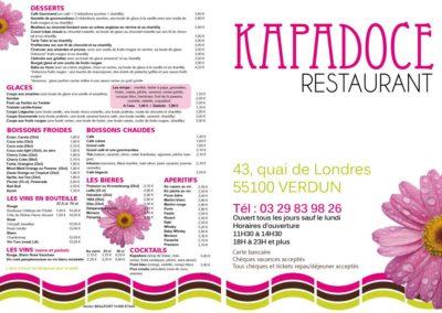 Carte menu restaurant extérieur - A3 1 pli 350 g