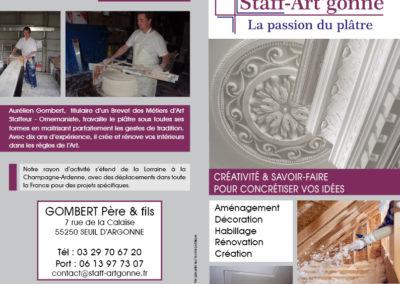 Dépliant de présentation extérieur - Format 21x21 1 pli - Papier 135 g brillant
