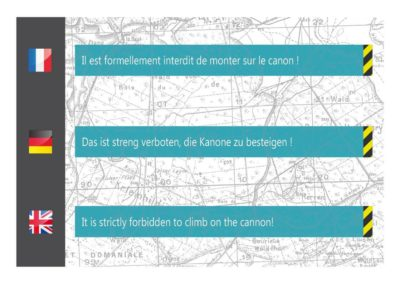Panneau d'information parcours touristique - Dibond