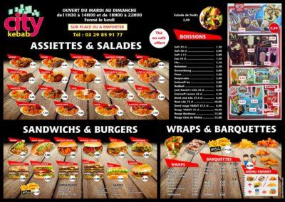 Set de table d'aprés les panneaux menu - Format A3 papier 90 g