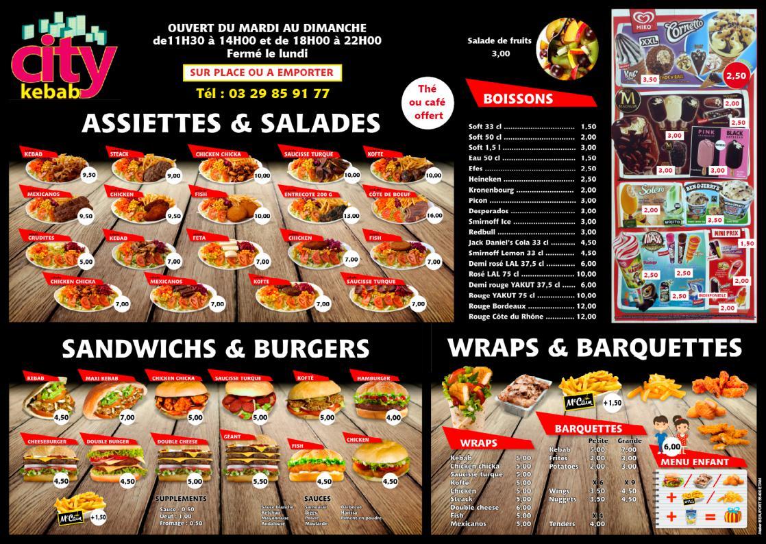 Cr ation graphique photographie de lieux et produits for Divan kebab carte